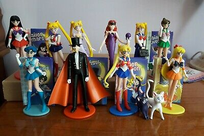 Sailor Moon Set Completo 6 Personaggi Trading Figures Preziosi