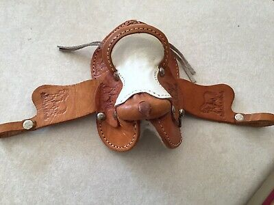 Vintage Toy Miniature Leather Horse Saddle for Mini Toy Pony/Horse
