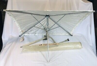 "REFLECTASOL 25"" Square Silver/White Umbrella with bracket / clamp Photography"