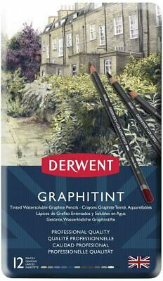 Derwent 700802 Graphitint Tinted Graphite Drawing Pencils, Watersoluble, Profess