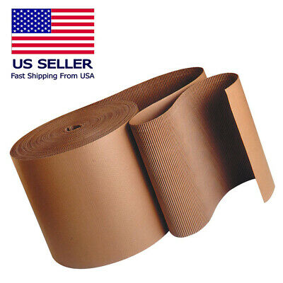 "6"" 250' Corrugated Cardboard Roll Brown Kraft ""A"" Flute Single Face New"