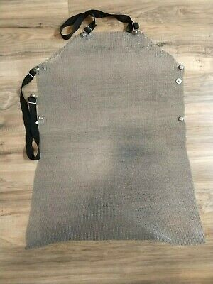 """US Mesh - Stainless Steel Mesh Butcher's Apron 32"""" x 27"""" 19100"""