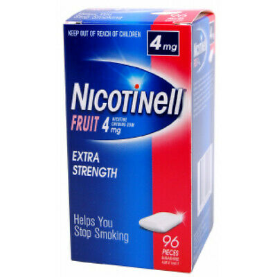 Nicotinell Chewing Gum 4mg Fruit 96 Pack EXTRA STRENGTH