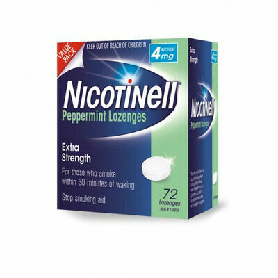 Nicotinell Lozenges Peppermint 4mg 72 Pack