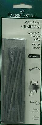 Faber-Castell Pitt 3-6mm Natural Charcoal Sticks (Pack of 20)