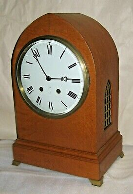 Antique Large French H & H Bracket Cabinet Chime Clock 8 Day Working French