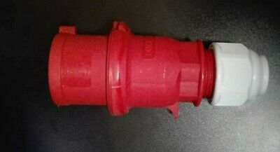 2148 Bals 32Amp 415Volt 3P+N+E (5Pin) IP44 Red Cable Mount Industrial Power Plug