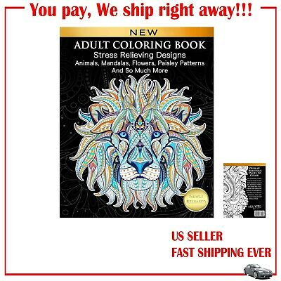 Adult Coloring Book :Stress Relieving Designs Animals,Mandalas,Flowers  Patterns