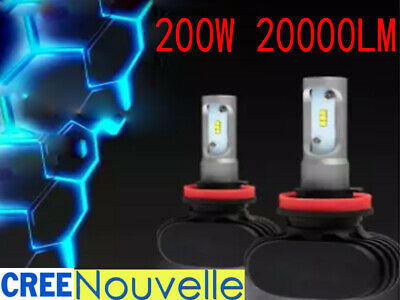 200W 20000LM H11 H8 H9 CREE LED Ampoule Voiture Feux Phare Lampe Kit Xénon Blanc