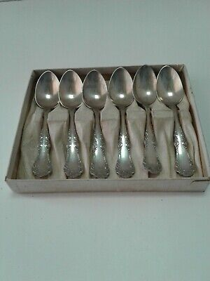 Set Of Six Stamped Solid Peru Silver Spoons