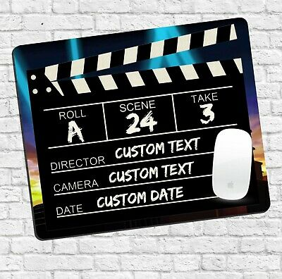 Customisable Clapper Board - Personalised Mousemat - Hollywood Video Studio