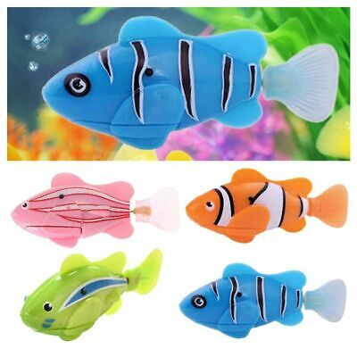 Robotic Robo Fish Water Activated Battery Powered Shark Clownfish Kids Toy Gift