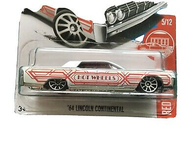 /'64 LINCOLN CONTINENTAL✰white✰ #5 TARGET RED EDITION✰2017 Hot Wheels✰Factory Set