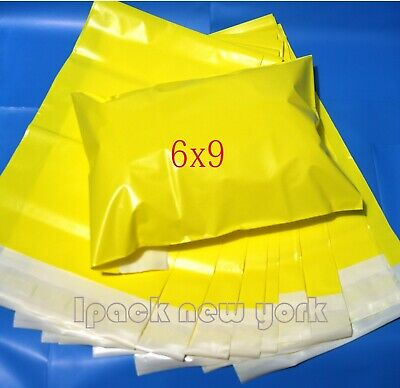 50 6x9 Yellow Poly Mailers Shipping Envelope Shipping Bags 2 Mil