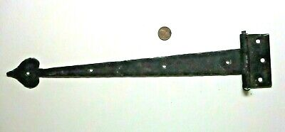 """Wrought Iron Colonial 14-1/2"""" Inch Spade Hinge Face Flush Mount Black 1 Antique"""