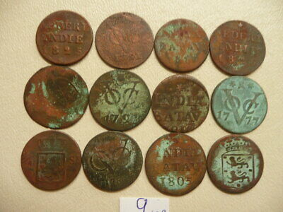 Lot of 12 Netherlands East Indies Duit Coins 1700s and 1800s - Lot 9
