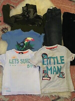 Baby Boys clothing bundle 2-3 years t-shirts, jeans, hoodie *Combined Postage*