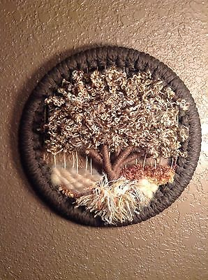 Small Fiber Art Tree Wall Hanging 3d