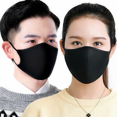 3Pcs Couple Sponge Safety Adjustable Breathable Mouth Cover Face Cover Muffle