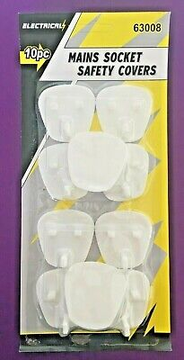10 Plug Socket Covers Babies Children's Safety Protector for UK 3 Pin Sockets