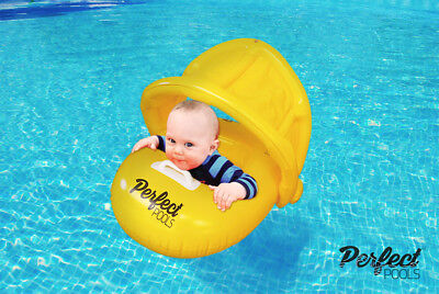 Perfect Pools PREMIUM Inflatable Toddler/Baby Super Swim Seat, Pool Safety Float