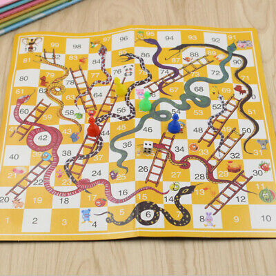 Snakes and Ladders or Ludo Play Mat Traditional Family Kid Indoor Funny Toy Game