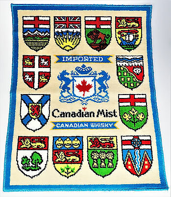 Canadian Mist Whiskey Rug 27x34 Shields Coat of Arms Logo Bar