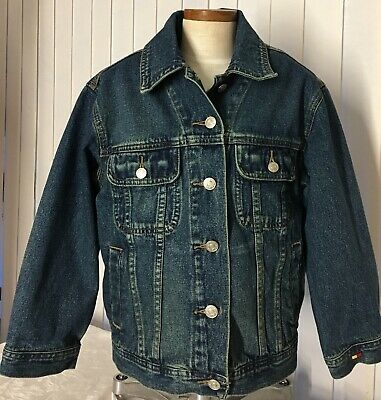 Tommy Hilfiger Denim Trucker Style Jacket Small/Petite 100% Cotton