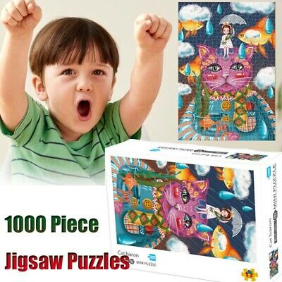 Cat Baron Mini Jigsaw Puzzles 1000 Pieces Learning Game Kids Toy Home Decoration