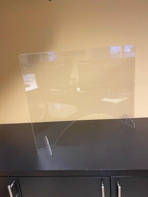 SNEEZE GUARD Acrylic Plexiglass Nail Table Desk Checkout Shield 24h X 32w X 1/8
