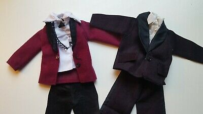 Vintage 1970s Mattel Ken doll formal wear tuxedo pants shirt shoes clothes set