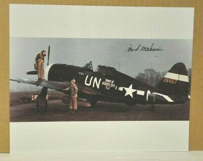 Heading Home to Raydon by Robert Taylor signed by Bud Mahurin and US Aces