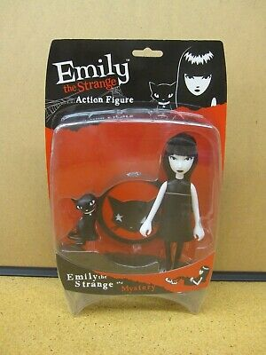 Emily the Strange Figure with Mystery Cat - 2004 SDCC Exclusive Ltd to 1000- NEW