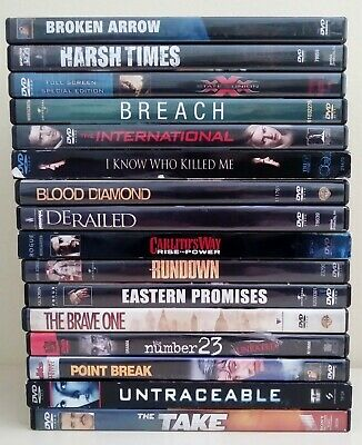 Action/Adventure Dvd Lot Of 16~Pre-Owned~See Listing For Title List (#02)