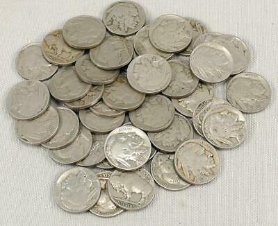 40 FULL DATE BUFFALO NICKELS Without Games, Stories, Deception Or Promises!