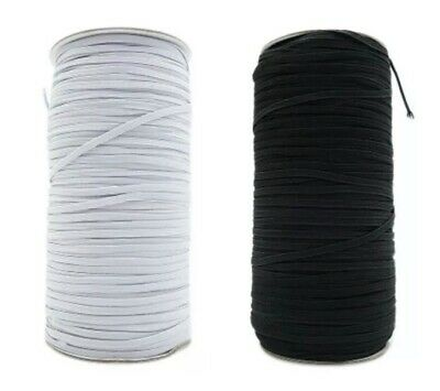 5 Yards Length Braided Elastic Band Cord Knit White Color 1/4 inch USA 🇺🇸