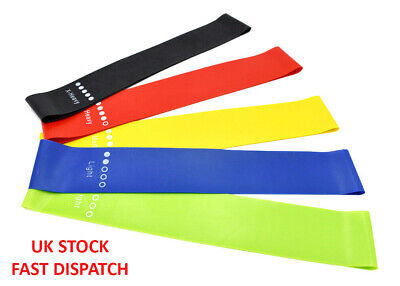 RESISTANCE BANDS LOOP Home Gym Workout Exercise Yoga Pilates Stretch Fitness