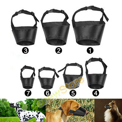 7pcs Adjustable Breathable Safety Small Medium Large Dog Muzzles for Anti-Biting