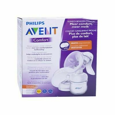 Philips Avent Comfort manual Breast Pump with 12 Free Pads / orange