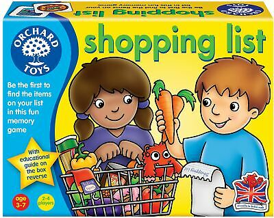 Orchard Toys Shopping List Baby/Toddler/Child Memory Game Education BNIB