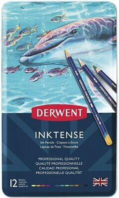 Derwent 700928 Inktense Permanent Watercolour Pencils, Professional Quality, Mul