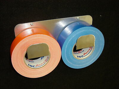 Owens RaceMates Tape Holder Double Roll Smooth Mill Finish Aluminum