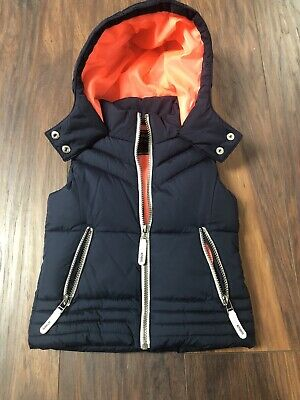 Next Blue Hooded Padded Body Warmer / Gilet Girls Age 7