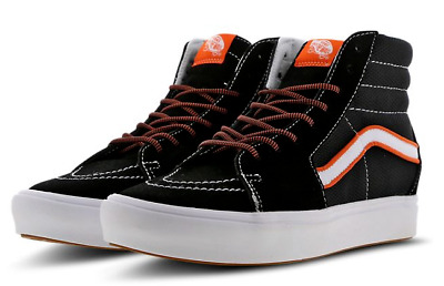 RRP £74.99 VANS OFF THE WALL ComfyCush Sk8-Hi Lightweight Boots Black White