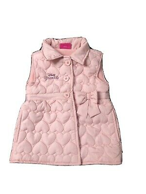 Girls Disney Princess Body Warmer Pink Age 3-4 years Gilet