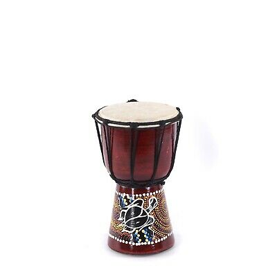 WOODEN DRUM DJEMBE 20 | ~20x12cm (HxØ), mahogany wood | bongo with goat skin