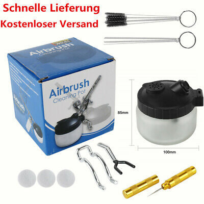 Aerografo Spazzole Pentola Cleaning Pot Set Pulizia Supporto Sacco di Accessori