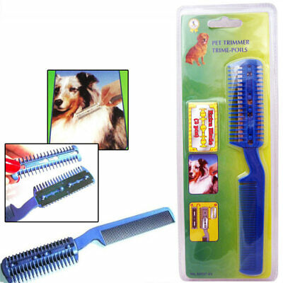 Animal Chien Chat Cheveux Taille-Haies avec Peigne + 2 Rasoir Coupe Soin New