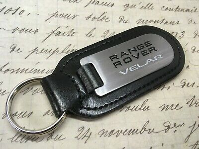 Land Range Rover Sport Quality Etched Black//Red Alloy Leather Keyring Key Fob