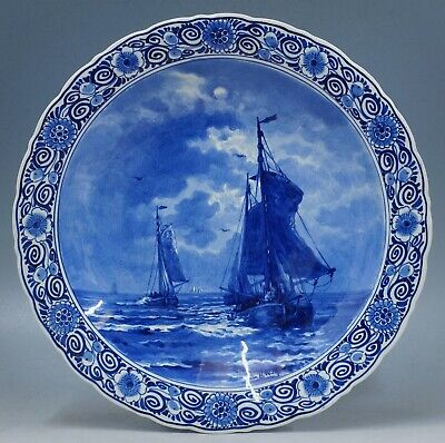 @ A PERFECT @ Antique handpainted Porceleyne Fles Delft plate Mesdag 1910